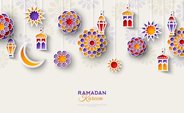 600x369 2018 Ramadan Kareem Festival Vector Material 03 Free Download
