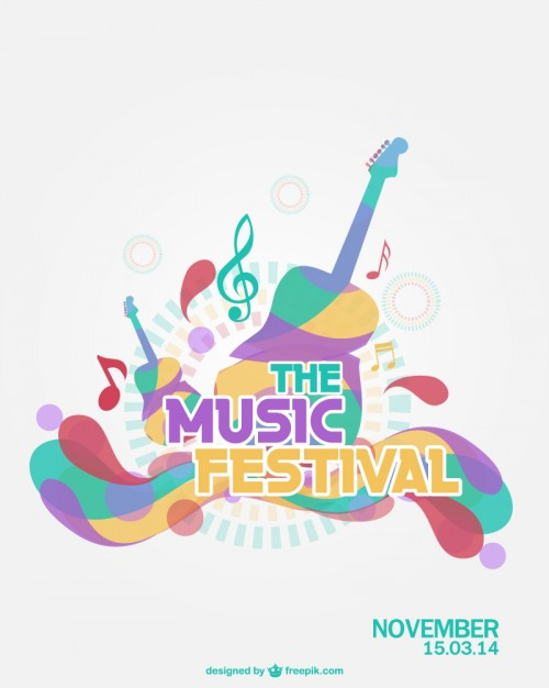 500x626 Music Festival Vector Vector Free Download