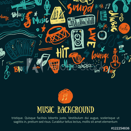 500x500 Music Festival Vector Background. Can Be Used For Printable