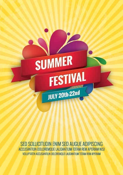 420x600 Summer Festival Vector Graphic Free Vector In Encapsulated