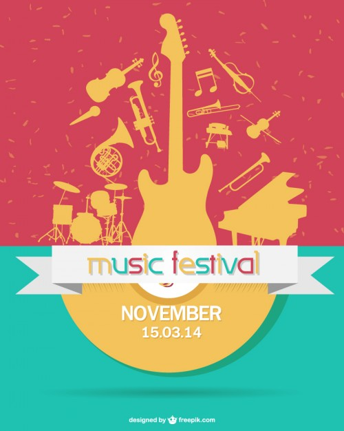 500x626 Coloful Music Festival Vector Free Download
