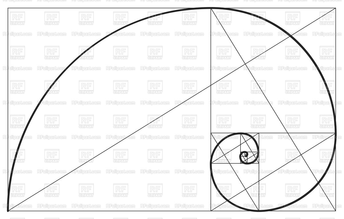 1200x764 Fibonacci Ideal Proportion Sections, Divinity And Eternity Spiral
