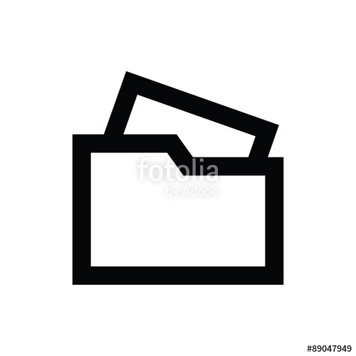 500x500 File Folder Vector Icon Stock Image And Royalty Free Vector