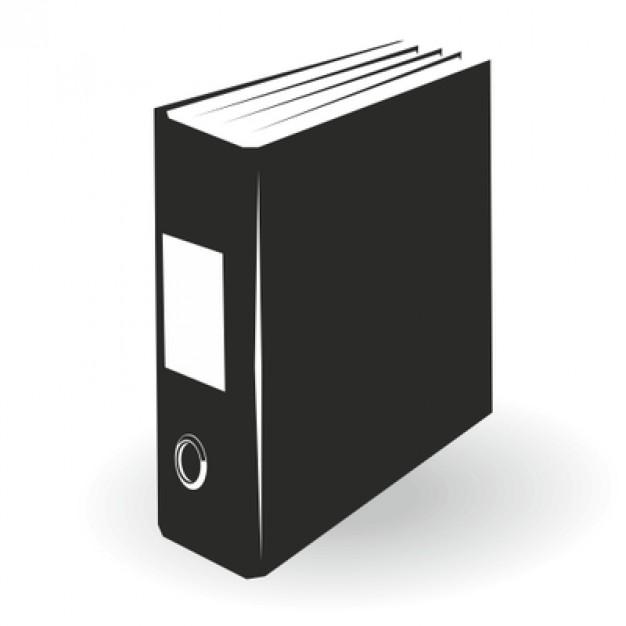 626x626 Black File Folder Illustration Vector Free Download