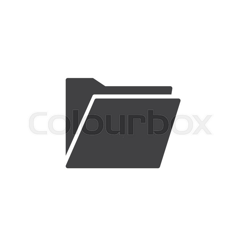 800x800 Folder Vector Icon. Filled Flat Sign For Mobile Concept And Web