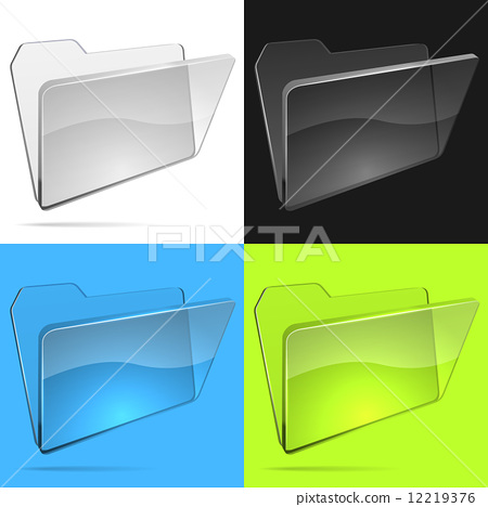 450x468 Glass File Folder Vector Template