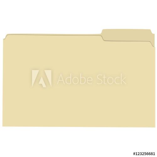 500x500 Isolated Empty File Folder Vector Illustration
