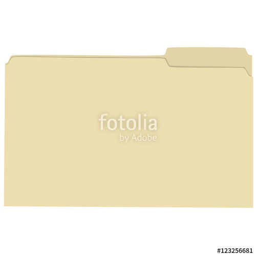 500x500 Isolated Empty File Folder Vector Illustration Stock Image And