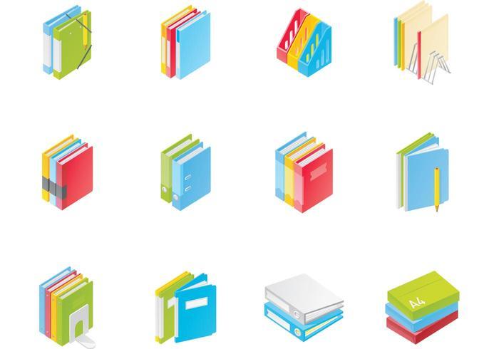 700x490 Office File Folder Vector Pack