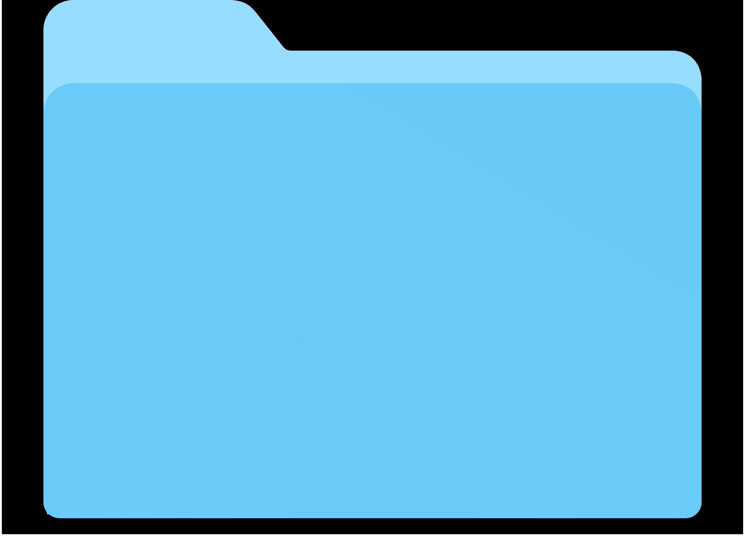 2400x1729 Blue Folder Vector Clipart Image