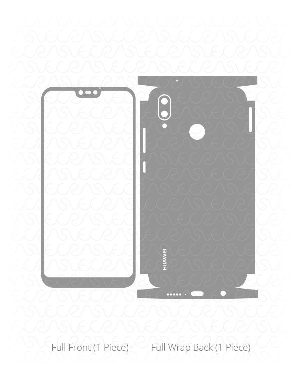 600x750 Huawei P20 Lite Vinyl Skin Vector Cut File Template 2018 Vecras