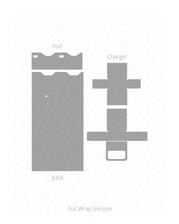600x750 Juul Device Amp Usb Charger Vinyl Skin Vector Cut File Template 2017