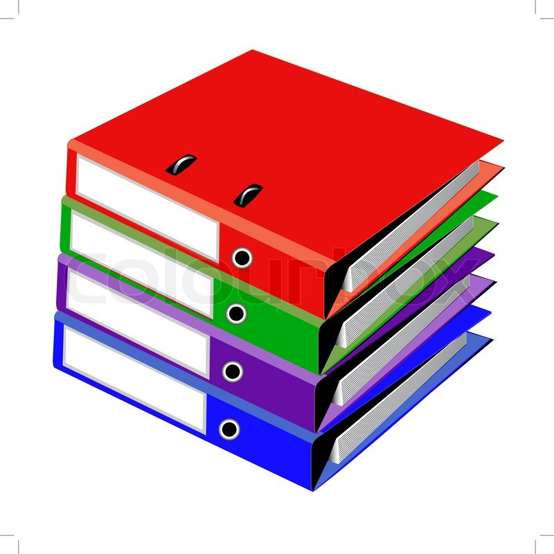800x800 Pile Files For Office On White Stock Vector Colourbox