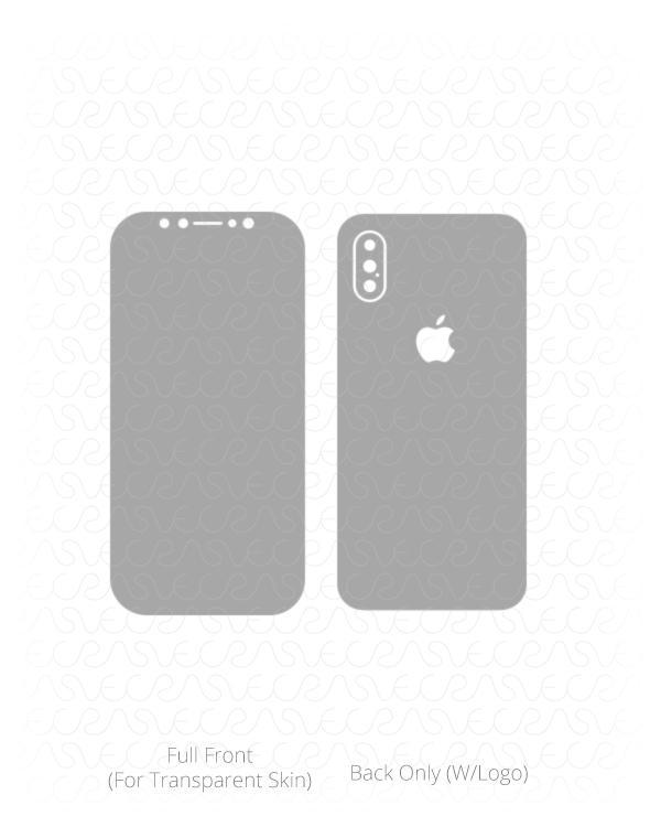 600x750 Apple Iphone Xs Vinyl Skin Vector Cut File Template 2018 Vecras