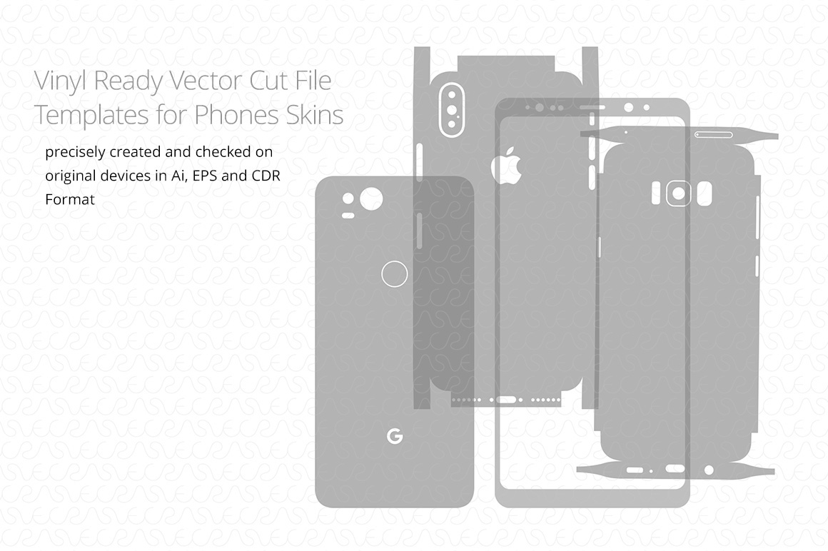 1160x772 Vinyl Ready Vector Cut File Template For Phones Skins On Behance
