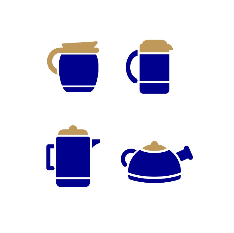 801x800 Coffee Maker Set Icons Design Free Vector File Download