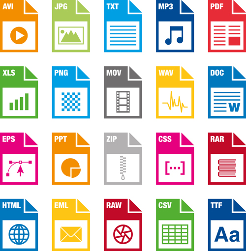 500x511 Creative File Format Icons Vector Graphics Free Download