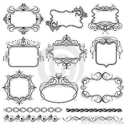 400x400 Filigree Frame Design Stock Illustrations, Filigree Frame Design