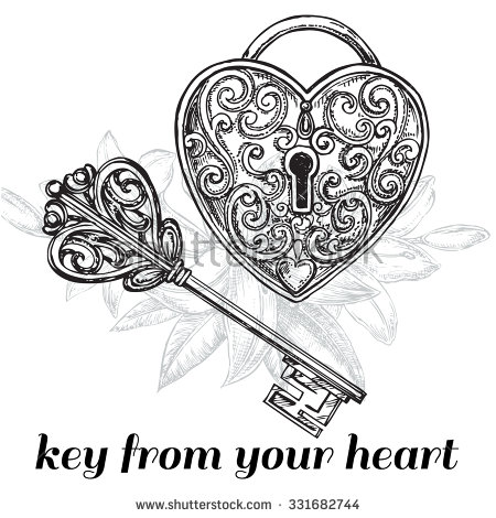 450x470 Drawn Key Filigree