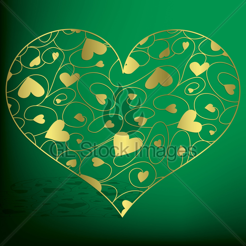 500x500 Elegant Filigree Heart In Vector Format. Gl Stock Images