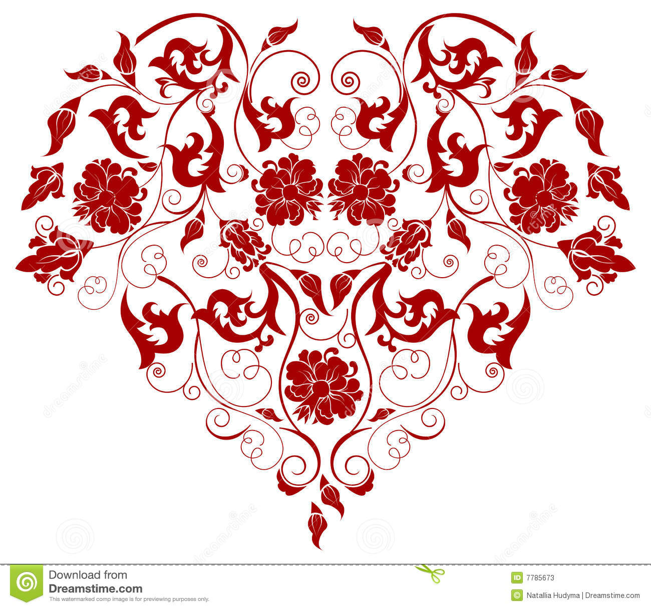 1300x1215 Filigree Heart Clipart