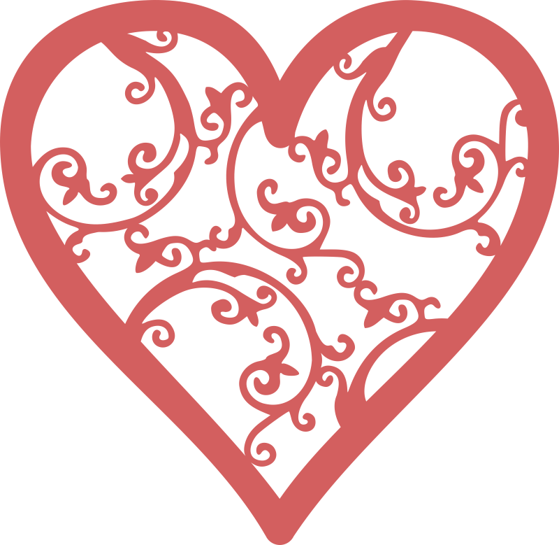 800x779 Filigree Heart Free Vector Download