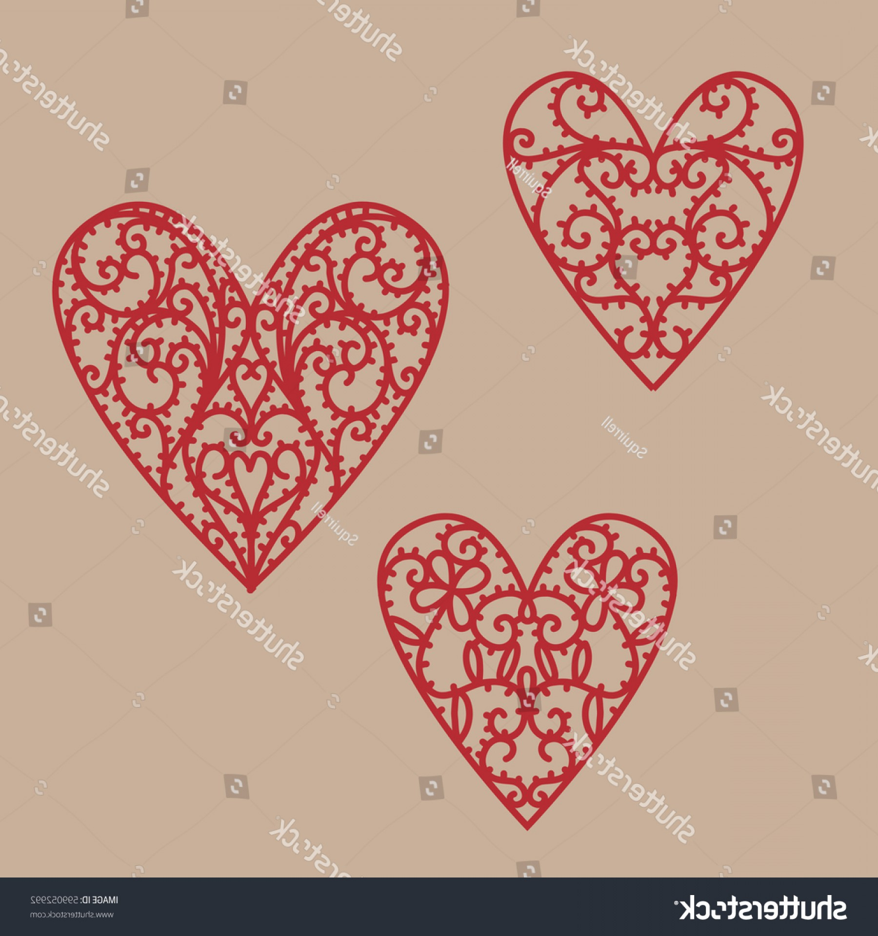 1800x1920 Filigree Hearts Vector Drawing Doodle Createmepink