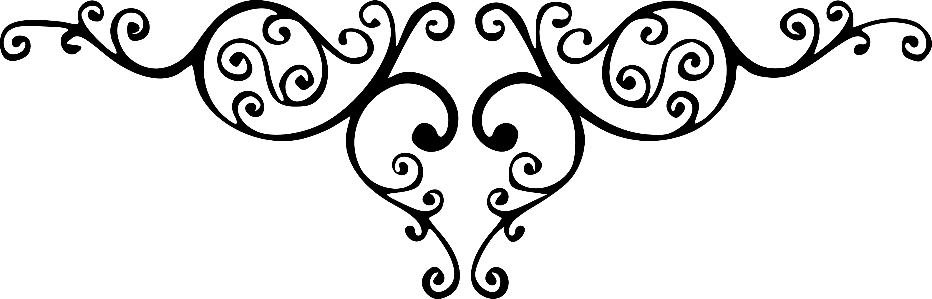 3166x1016 Filigree Heart Banner Transparent