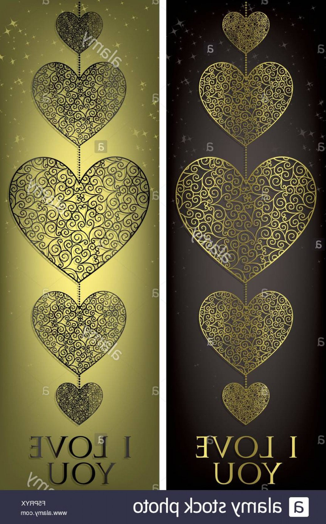 1039x1668 Stock Photo Filigree Heart Banner In Vector Format Createmepink