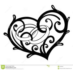 236x226 Collection Of Heart Filigree Drawing High Quality, Free