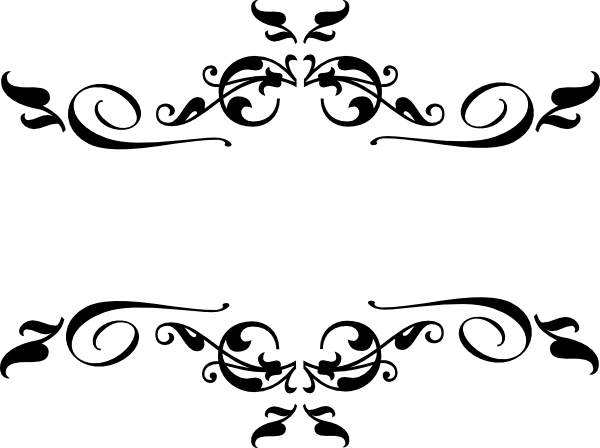 600x448 Collection Of Free Vector Filigree Black. Download On Ubisafe
