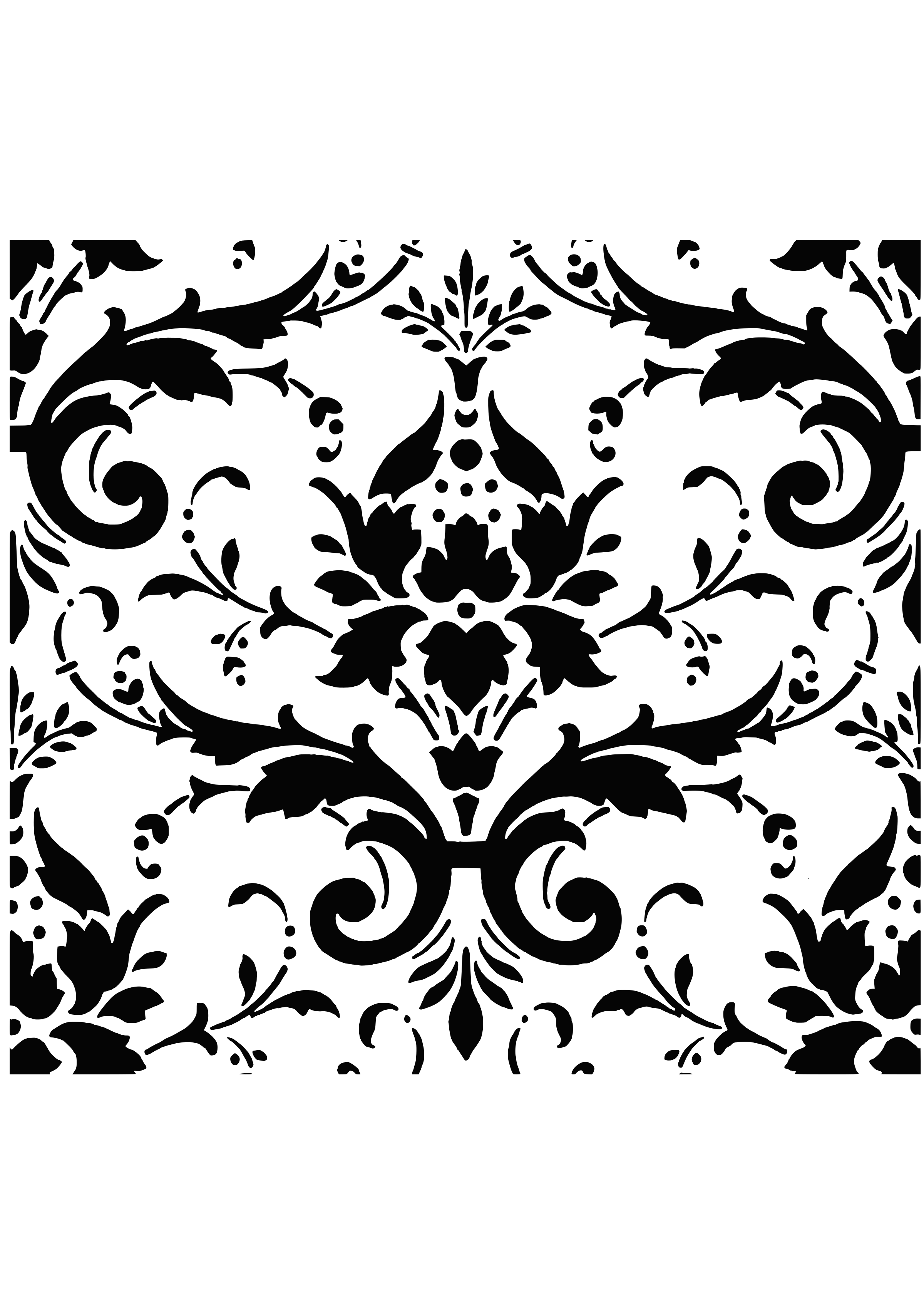 Filigree Pattern Vector Free