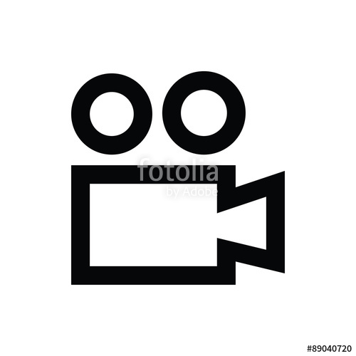 500x500 Film Camera Vector Icon Stock Image And Royalty Free Vector Files