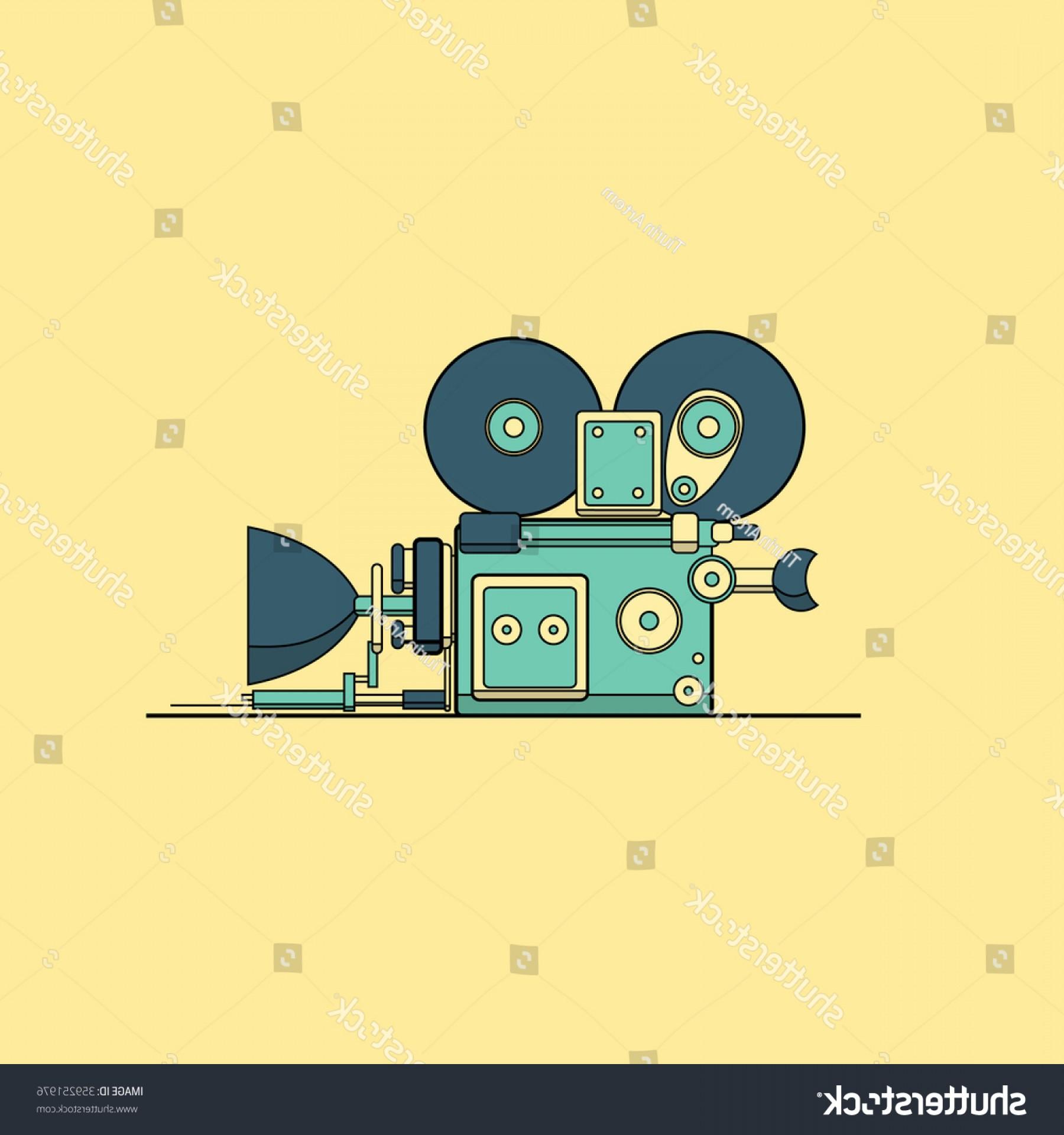 1800x1920 Retro Vintage Cinema Film Camera Vector Shopatcloth