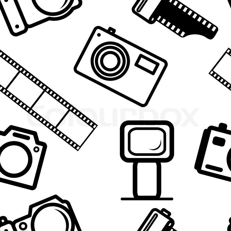 800x800 Seamless Background, Of Digital Cameras, Tripod, Film Stock