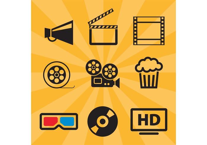 700x490 Film Vector Icons