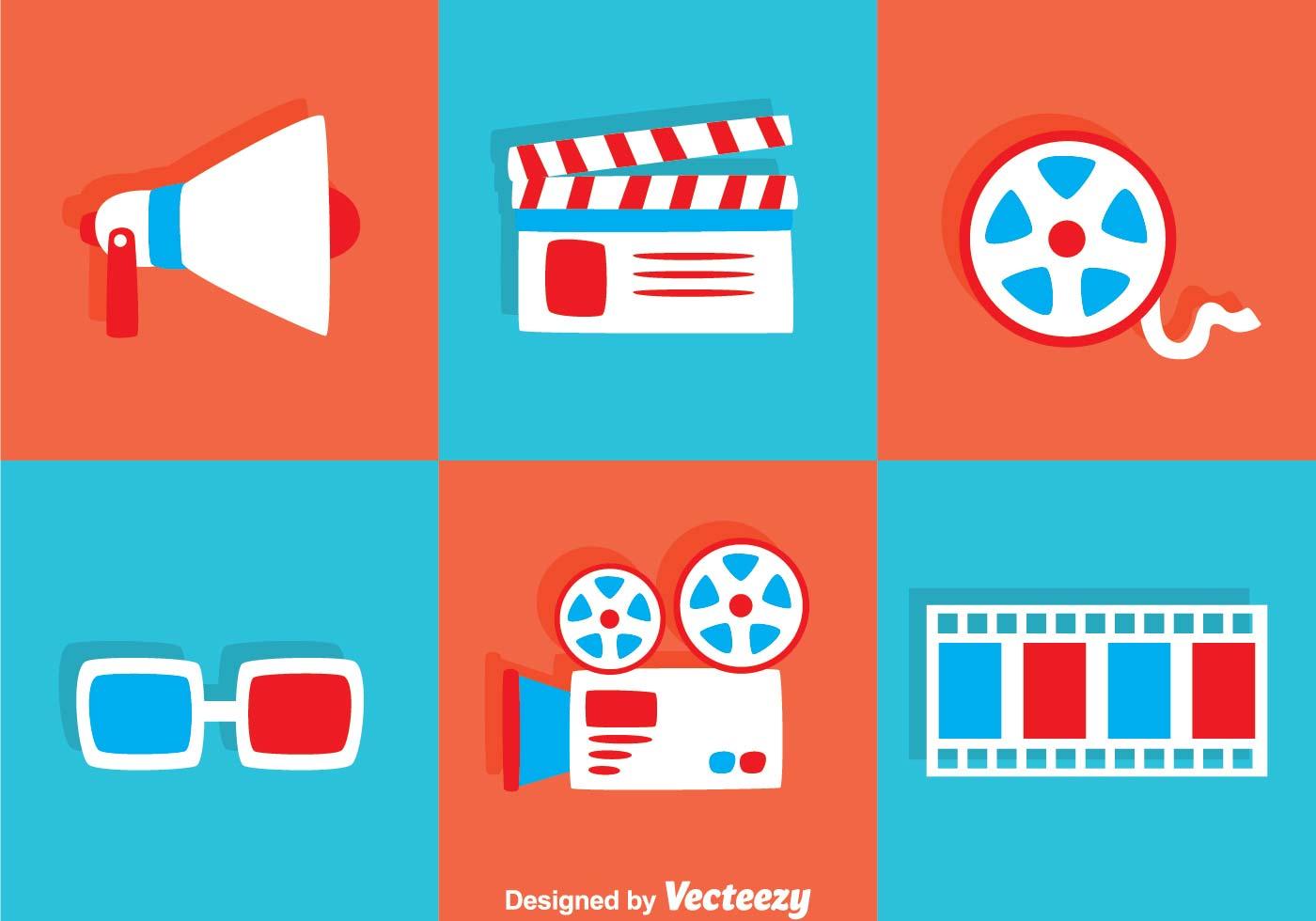 1400x980 Flat Movie Icons