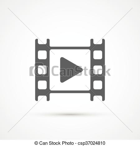 450x470 Movie Film Play Icon. Vector. Movie Film Play Trendy Icon. Vector