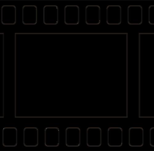 500x490 Movie Tape Icon Vector Image Public Domain Vectors