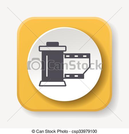 450x470 Photo Film Icon Vector Clipart