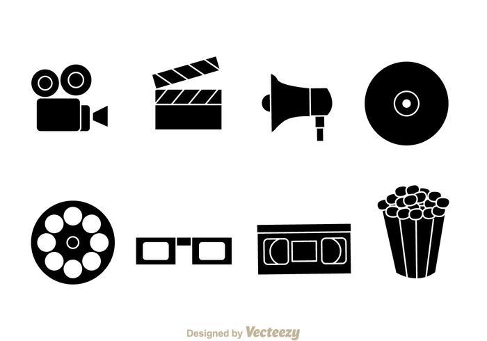 700x490 Black Movie Vector Icons