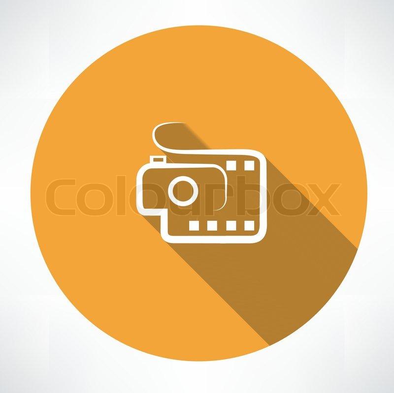 800x799 Camera And Film Icon Stock Vector Colourbox