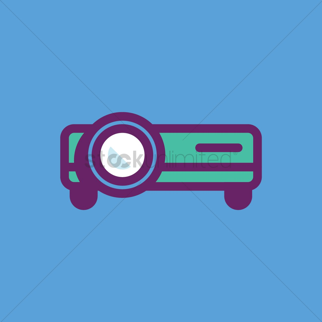 1300x1300 Film Projector Vector Image