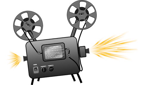 500x286 Film Projector Vector Drawing Public Domain Vectors