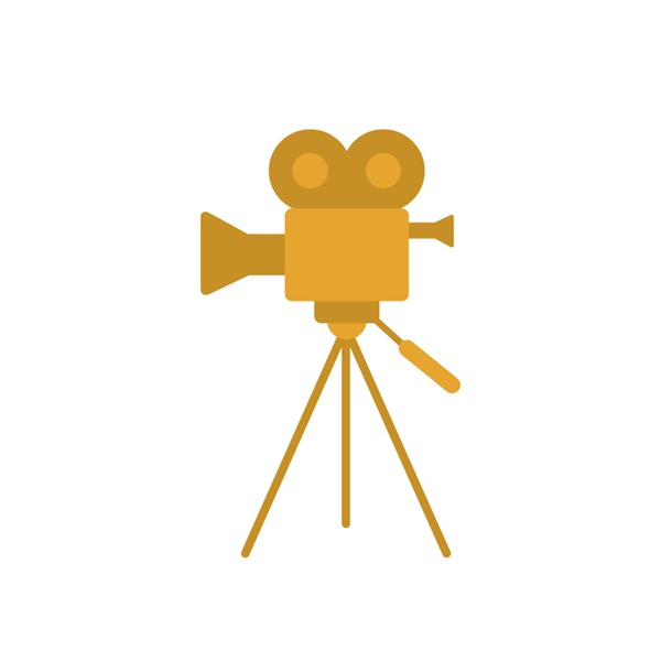 600x600 Gold Cinema Projectors Vector Graphics My Free Photoshop World