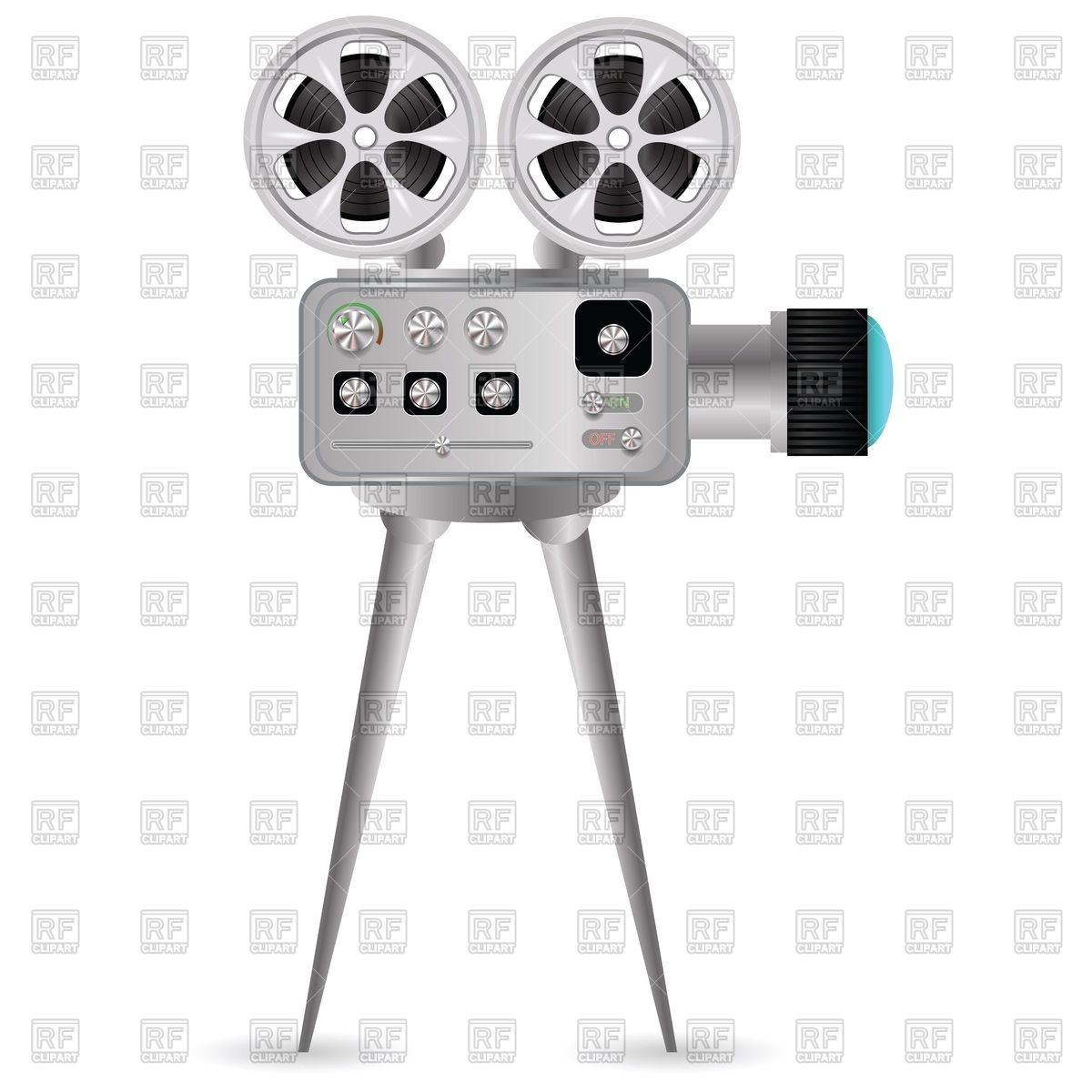 1200x1200 Movie Projector With Film Reel Vector Image Vector Artwork Of