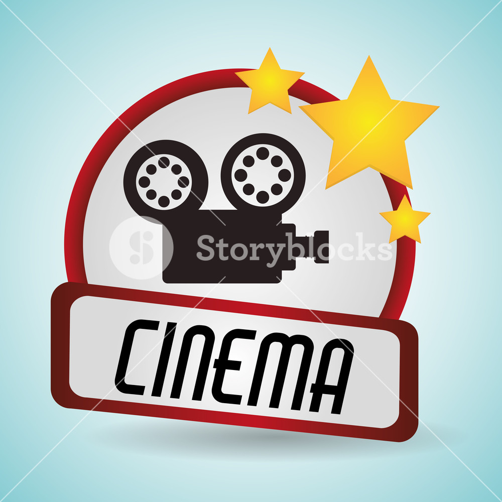 1000x1000 Cinema Film Camera Movie Projector Vector Illustration Eps 10