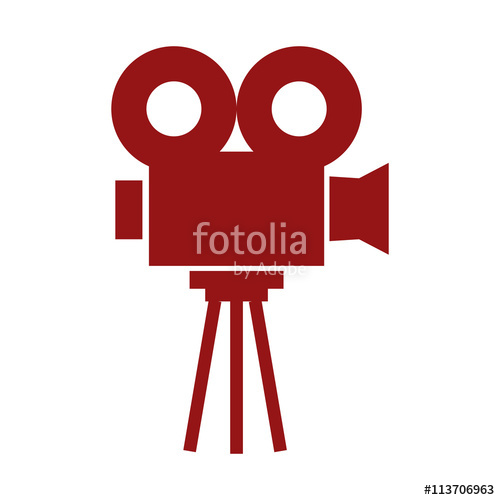 500x500 Film Projector , Vector Illustration Over White Background Stock