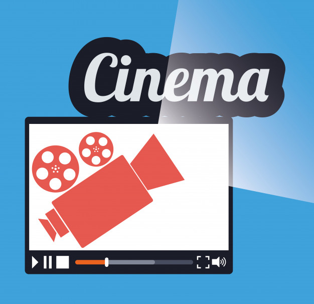 626x606 Cinema Online Movie Film Projector Vector Premium Download