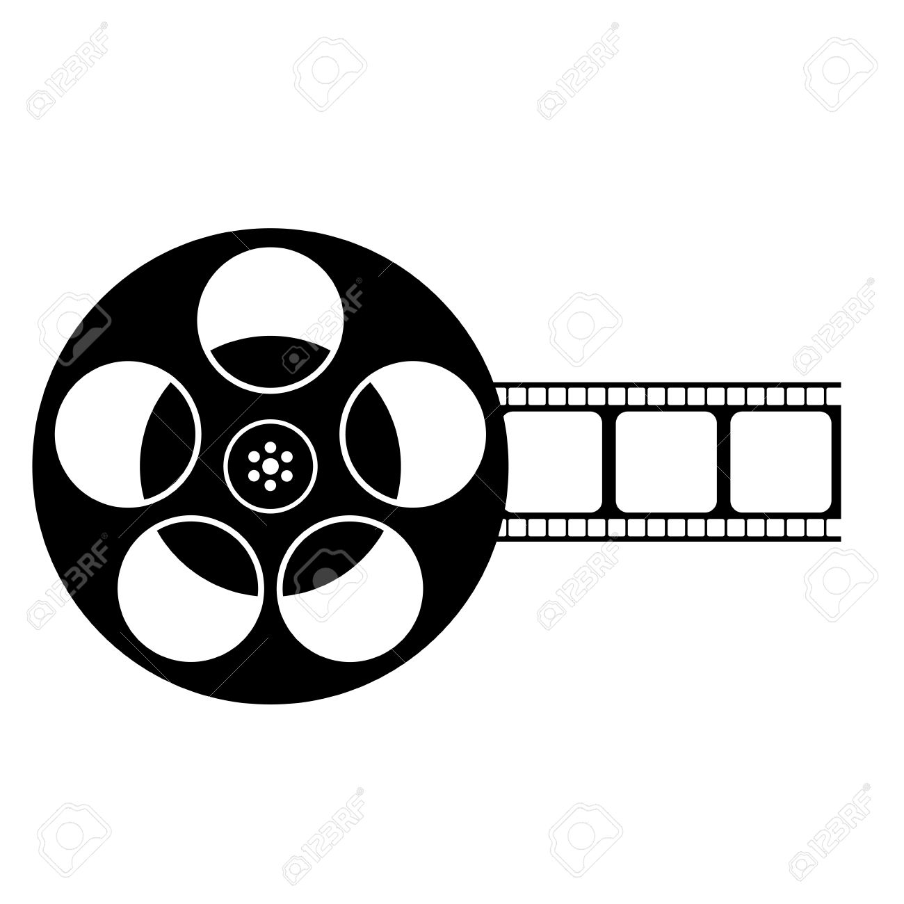1300x1300 Film Reel Clipart Black And White